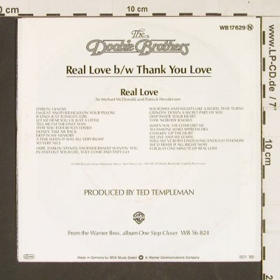Doobie Brothers: Real Love / Thank you Love, WEA(WB 17 629), D, 1980 - 7inch - S9830 - 2,00 Euro