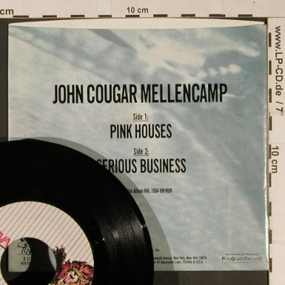Cougar Mellencamp,John: Pink Houses/Serious Business, Riva(R 215), US, 1983 - 7inch - T1011 - 2,50 Euro