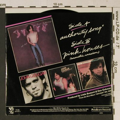 Cougar Mellencamp,John: Authority Song / Pink Houses, Riva(R 216), US, 1984 - 7inch - T1012 - 2,50 Euro
