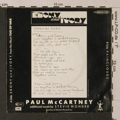 McCartney,Paul: Ebony and Ivory, EMI(006-64 749), D, 1982 - 7inch - T1141 - 2,50 Euro