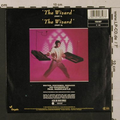 Hardcastle,Paul: The Wizard, pt1&2, Chrysalis(108 597), D, co, 1986 - 7inch - T1216 - 2,50 Euro