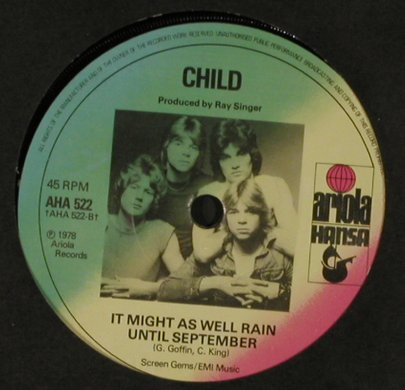 Child: It's Only Make Believe, LC, Hansa(AHA 522), UK, 1978 - 7inch - T1224 - 2,00 Euro