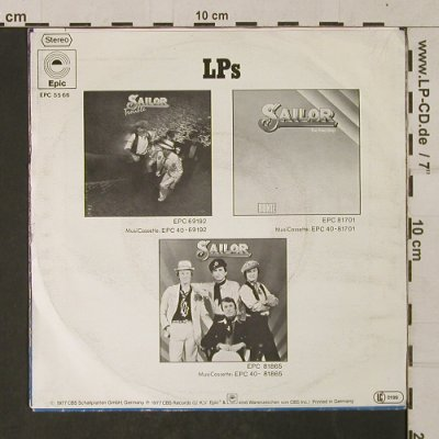 Sailor: Down by the Docks, m-/vg+, Epic(EPC 5566), D, 1977 - 7inch - T1378 - 2,00 Euro