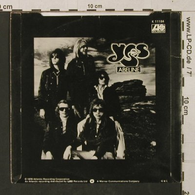 Yes: Don't kill the Whale / Abilene, Atlantic(K 11184), UK,vg+/m, 1978 - 7inch - T1406 - 4,00 Euro