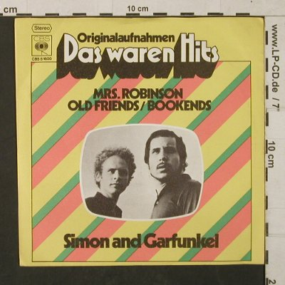 Simon & Garfunkel: Mrs.Robinson/Old Friends/Bookends, CBS(CBS S 1600), D,Ri, 1968 - 7inch - T1449 - 3,00 Euro