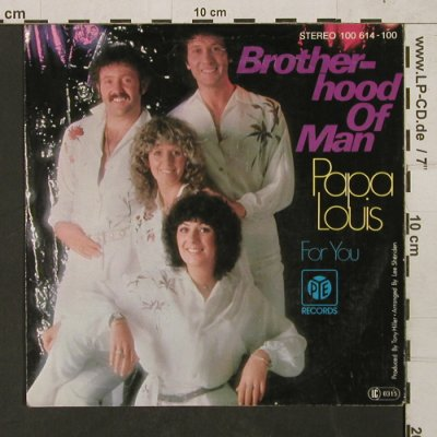 Brotherhood of Man: Papa Louis / For You, PYE(100614-100), D, 1979 - 7inch - T1492 - 2,50 Euro