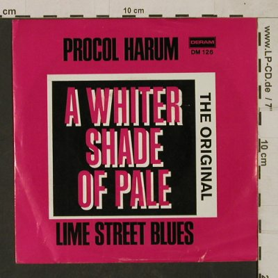 Procol Harum: A Whiter Shade Of Pale/LimeSt.Blues, Deram(DM 136), D,vg+/vg+,  - 7inch - T1522 - 2,50 Euro