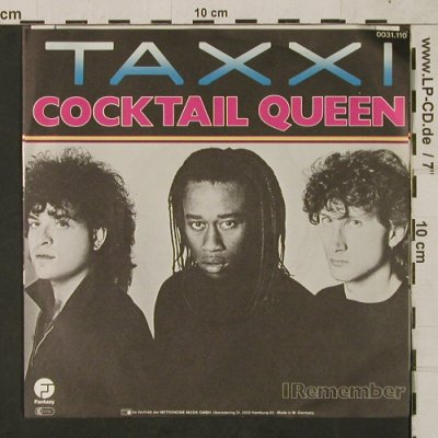 Taxxi: Cocktail Queen / I Remenber, Fantasy(0031.110), D, 1982 - 7inch - T1535 - 2,50 Euro