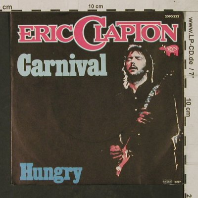 Clapton,Eric: Carnival / Hunger (ONLY COVER!), RSO(2090 222), D, 1976 - Cover - T1557 - 1,00 Euro