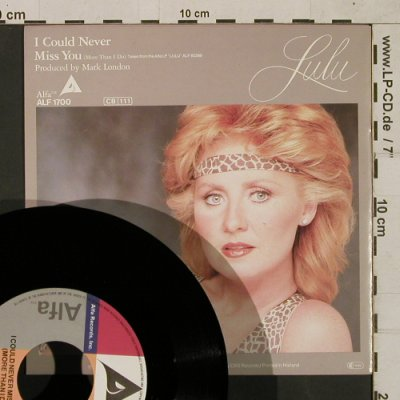Lulu: I Could Never, Alfa Record Inc.(ALF 1700), NL, 1979 - 7inch - T1604 - 3,00 Euro