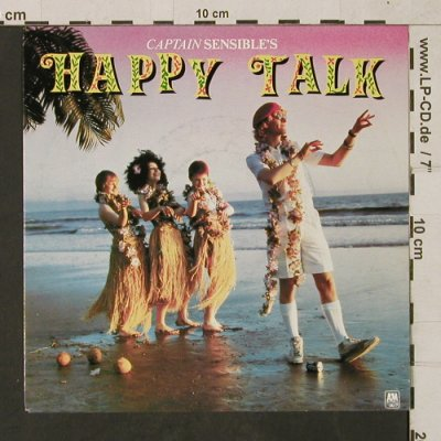 Captain Sensible: Happy Talk/It/I can't stand it, A&M(AMS 9218), NL, 1982 - 7inch - T1627 - 3,00 Euro