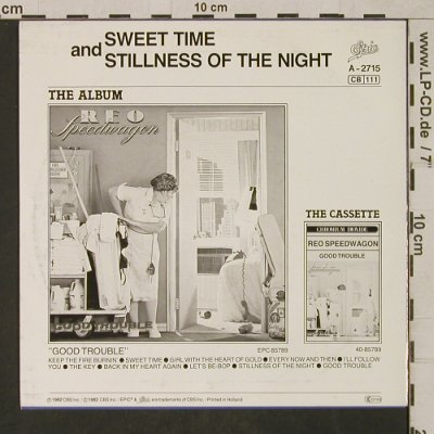 Reo Speedwagon: Sweet Times, Epic(EPCA 2715), NL, 1982 - 7inch - T1656 - 3,00 Euro