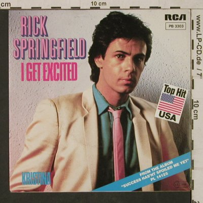 Springfield,Rick: I get Excited / Kristina, RCA(PB 3303), D, 1982 - 7inch - T1657 - 3,00 Euro