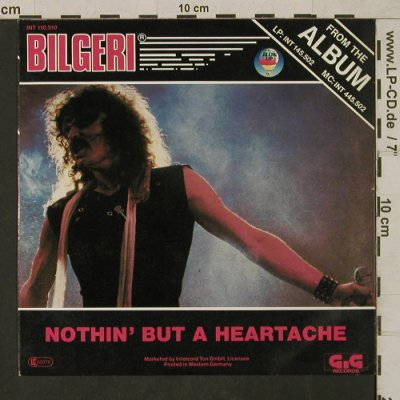 Bilgeri: Nothin' But a Heartache, Blow Up/GiG(INT 110.510), D, 1982 - 7inch - T1668 - 3,00 Euro