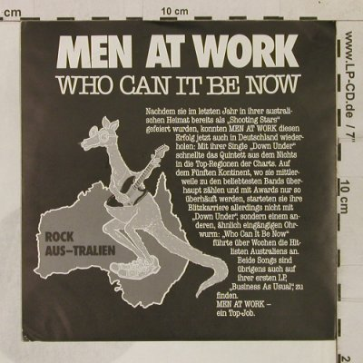 Men At Work: Who Can It Be Now(Rock Aus-Tralien), CBS(CBS A 1611), D, 1982 - 7inch - T1688 - 3,00 Euro