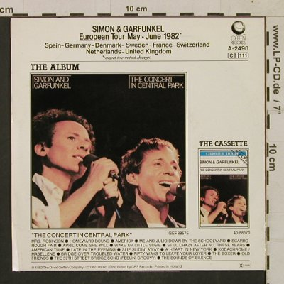 Simon & Garfunkel: Late In The Evening/Me and Julio..., Geffen(GEFA 2498), NL, 1982 - 7inch - T1730 - 4,00 Euro