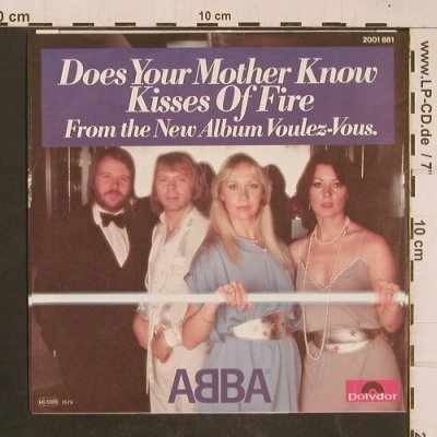 Abba: Does Your Mother Know/Kisses of F, Polydor(2001 881), D, 1979 - 7inch - T1784 - 3,00 Euro