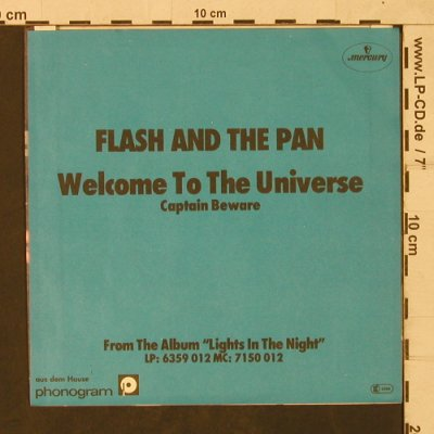 Flash And The Pan: Welcome to the Universe, Mercury(6059 338), D, Facts, 1980 - 7inch - T1787 - 4,00 Euro