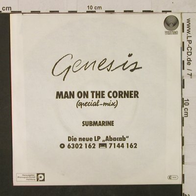 Genesis: Man on the Corner, sp.mix/Submarine, Vertigo(6000 786), D, 1973 - 7inch - T1835 - 10,00 Euro
