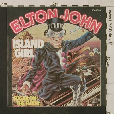 John,Elton: Island Girl / Sugar on the Floor, DJM(2043 005), D, 1975 - 7inch - T1872 - 4,00 Euro