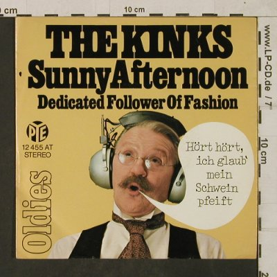 Kinks: Sunny Afternoon / Dedicated of Fash, PYE(12 455 AT), D,Mono, 1972 - 7inch - T1885 - 4,00 Euro