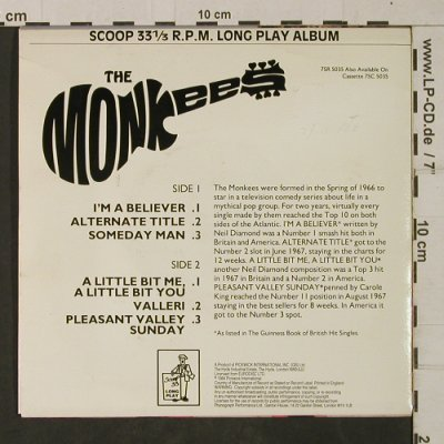 Monkees: I'm A Believer+5, 33 rpm, Scoop(7SR 5035), UK, 1984 - EP - T1930 - 9,00 Euro