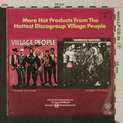 Village People: I Am What I Am, Telefunken(6.12418 AC), D, 1979 - 7inch - T1940 - 3,00 Euro