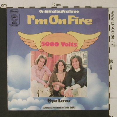 5000 Volts: I'm On Fire, Epic(EPC 3359), D, 1975 - 7inch - T1966 - 2,50 Euro