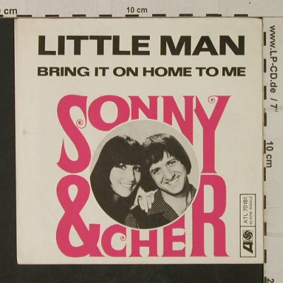 Sonny & Cher: Little Man/Bring it on..  Nur Cover, Atlantic(ATL 70 181), D,  - Cover - T2060 - 1,00 Euro