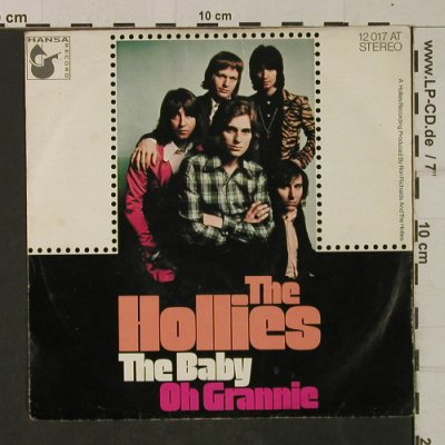 Hollies: The Baby / Oh Grannie,Nur Cover,vg+, Hansa(12 017 AT), D,  - Cover - T2065 - 1,00 Euro
