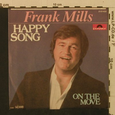 Mills,Frank: Happy Song / On The Move, Polydor(2121 432), D, 1980 - 7inch - T2101 - 1,50 Euro
