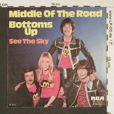 Middle Of The Road: Bottoms Up, RCA(74-16213), D, 1972 - 7inch - T211 - 3,00 Euro