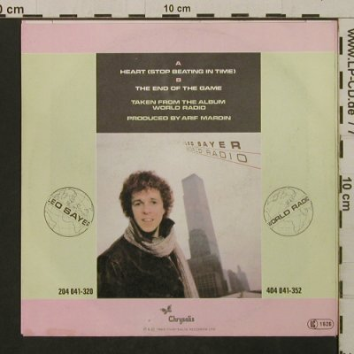 Sayer,Leo: Heart / The End Of The Game, Chrysalis(104 354-100), D, 1982 - 7inch - T2137 - 1,50 Euro