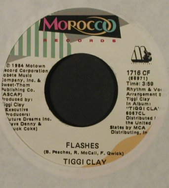 Clay,Tiggy: Roses For Lydia/Flashes, LC, Morocco(1716 CF), US, 1984 - 7inch - T2141 - 1,50 Euro