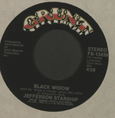 Jefferson Starship: Winds Of Change/Black Widow, LC, Grunt(FB-13439), US, 1982 - 7inch - T2153 - 2,50 Euro