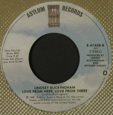 Buckingham,Lindsey: It Was I/Love From Here, FLC, Asylum(E-47408), US, 1981 - 7inch - T2161 - 2,00 Euro
