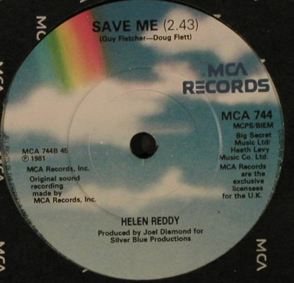 Reddy,Helen: I Can't Say Goodbye To You/Save Me, MCA(MCA 744), UK, FLC, 1981 - 7inch - T2170 - 1,50 Euro