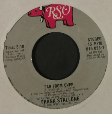 Stallone,Frank: Waking Up / Far From Over, LC, RSO(815 023-7), US, 1983 - 7inch - T2177 - 3,00 Euro