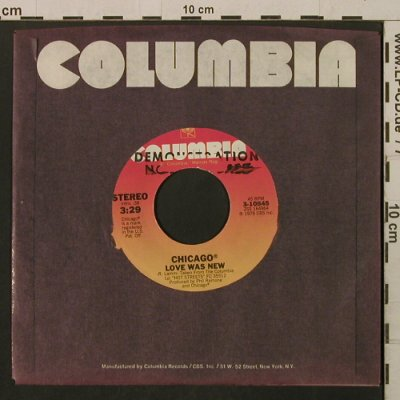 Chicago: Love Was New / Alive Again, FLC, Columbia/Promo Stol(3-10845), US, 1978 - 7inch - T2183 - 3,00 Euro