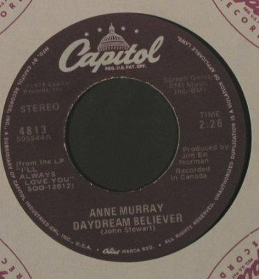Murray,Anne: DaydreamBeliever/Do You Think Of Me, Capitol(4813), US, FLC, 1979 - 7inch - T2211 - 3,00 Euro