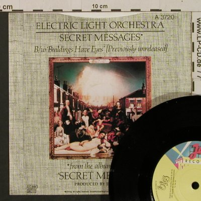 ELO: Secret Messages/Buildings Have Eyes, Jet(A 3720), UK,m-/vg+, 1983 - 7inch - T2213 - 2,50 Euro