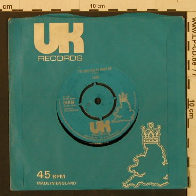 Lobo: I'dLoveYouToWantMe/Am ITrueToMyself, UK(UK R 68), UK, FLC, 1972 - 7inch - T2217 - 3,00 Euro