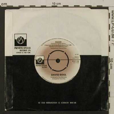 Soul,David: Silver Lady / Rider, FLC, Private St(PVT 115), UK, 1977 - 7inch - T2225 - 2,00 Euro