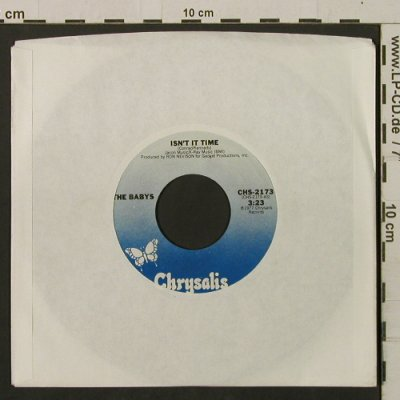 Babys: Isn't It Time / Give Me Your Love, Chrysalis(CHS-2173), US, LC, 1977 - 7inch - T2226 - 2,50 Euro