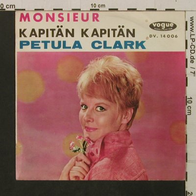 Clark,Petula: Monsieur, vg+/m-(sung in german), Vogue(14006), F, 1962 - 7inch - T2229 - 4,00 Euro