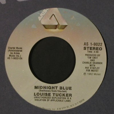 Tucker,Louise: Midnight Blue / Voices In The Wind, Arista(AS 1-9022), US, FLC, 1982 - 7inch - T2233 - 2,00 Euro