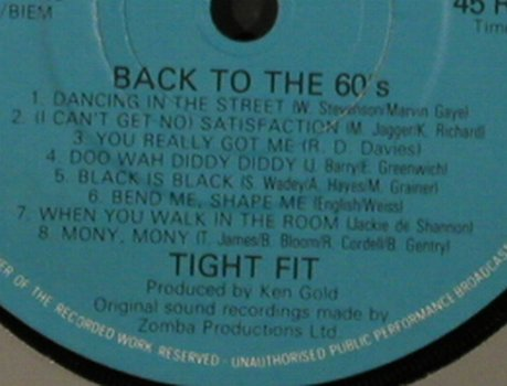 Tight Fit: Back To The 60s (Medley)/Coco-Nite, Jive(JIVE 002), UK, FLC, 1981 - 7inch - T2234 - 2,50 Euro