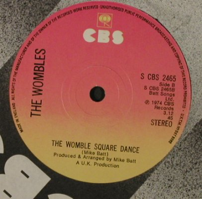 Wombles, The: Banana Rock / Womble Square Dance, CBS(2465), UK, 1974 - 7inch - T2242 - 2,00 Euro