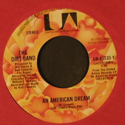 Dirt Band: Take Me Back / An American Dream, UA(UA-X1330), US, LC, 1979 - 7inch - T2253 - 2,00 Euro