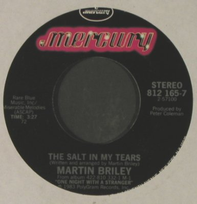 Briley,Martin: Dumb Love/The Salt In My Tears, LC, Mercury(812 165-7), US, 1983 - 7inch - T2266 - 1,50 Euro